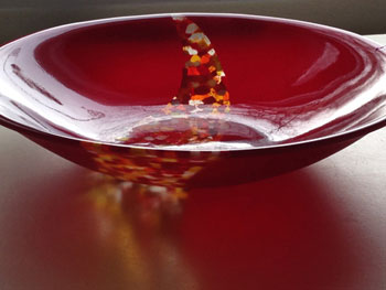 Red Confetti Bowl